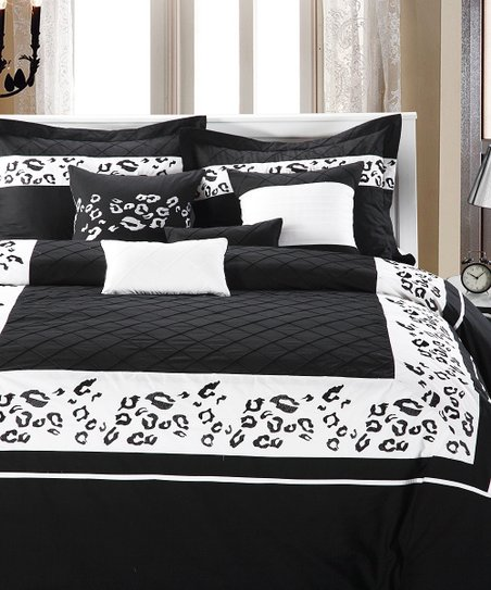 Black &amp; White Jungle Comforter Set