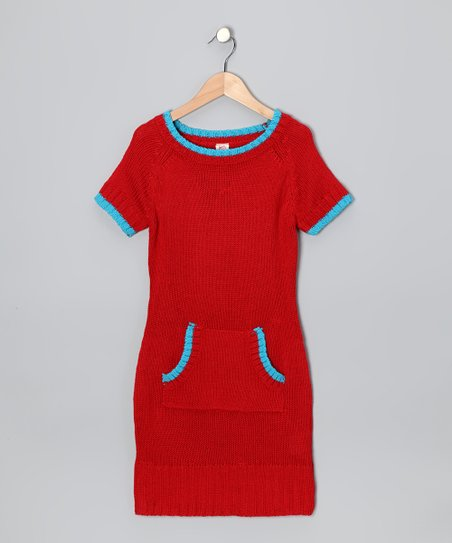 Flame Pocket Sweater Dress  - Toddler & Girls