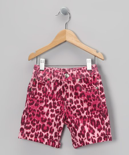 Pink Leopard Shorts - Toddler & Girls