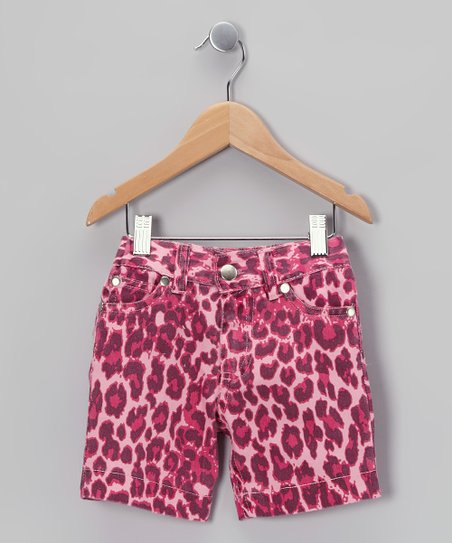 Pink Leopard Bermuda Shorts - Toddler & Girls
