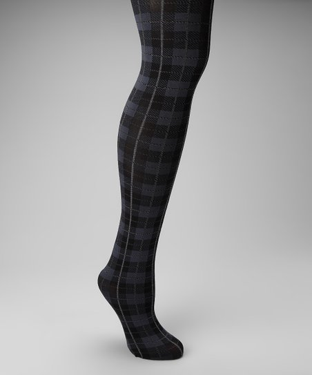 Black Plaid Tights