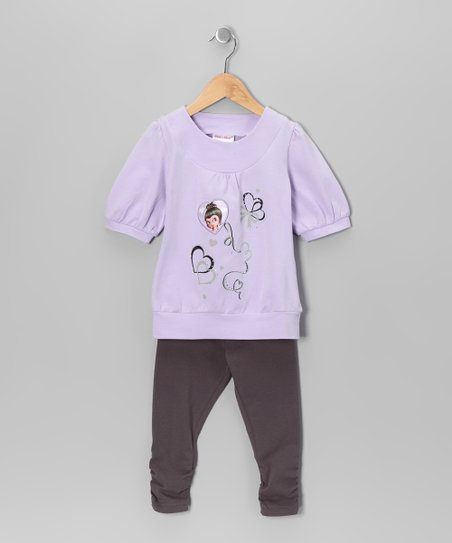 Purple Heart Tunic & Leggings - Toddler & Girls