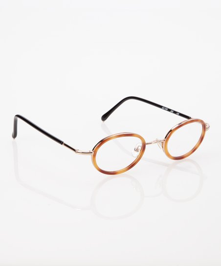 Tortoise Shell Circle Frame Eyeglasses
