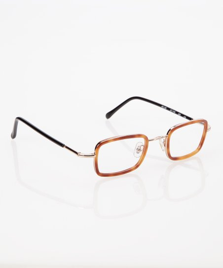 Tortoise Rectangle Frame Eyeglasses