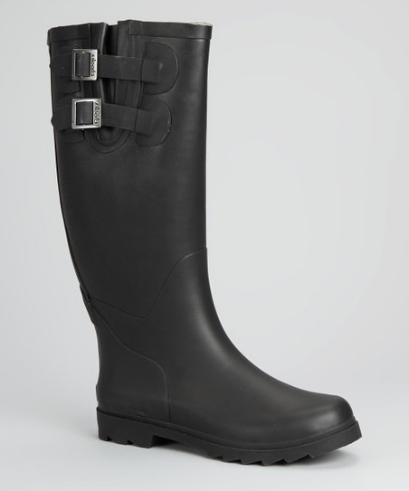 Black Pop Rain Boot