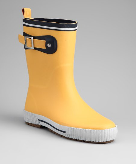 Yellow Deck Solid Rain Boot
