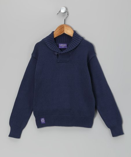 Marine Elbow Patch Sweater - Toddler & Boys