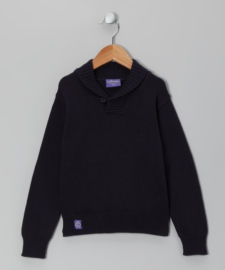 Navy Elbow Patch Sweater - Toddler & Boys