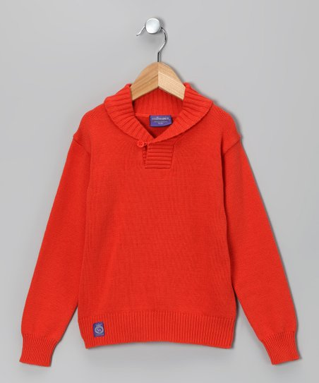 Orange Sweater - Toddler & Boys