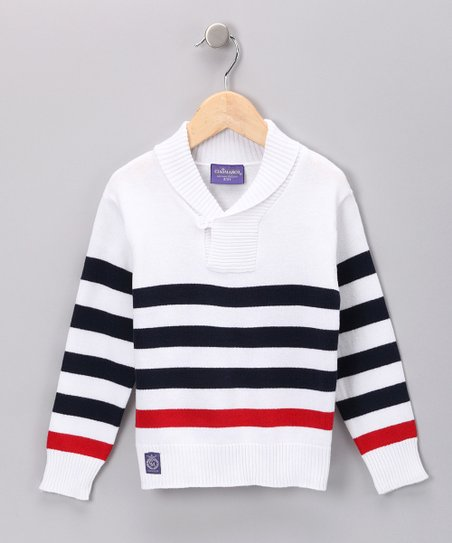 Navy Stripe Sweater - Toddler &amp; Boys