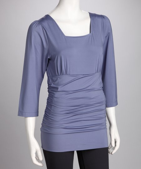 Lavender Blissful Postpartum Square Neck Top - Petite & Women