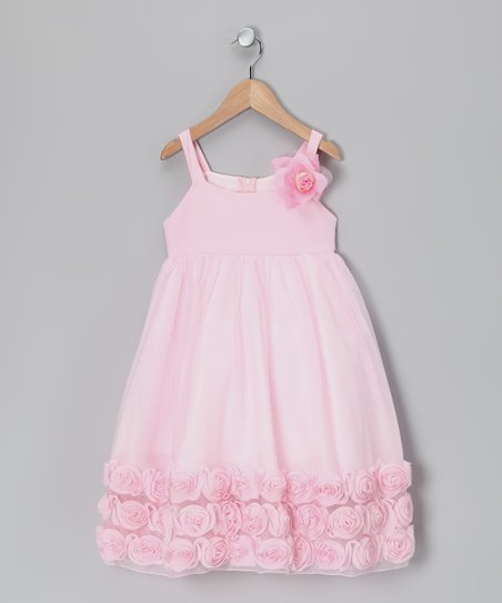 Pink Rosette Babydoll Dress - Infant