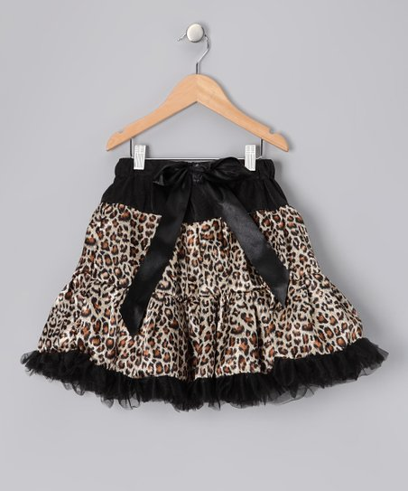 Brown Leopard Pettiskirt - Toddler & Girls