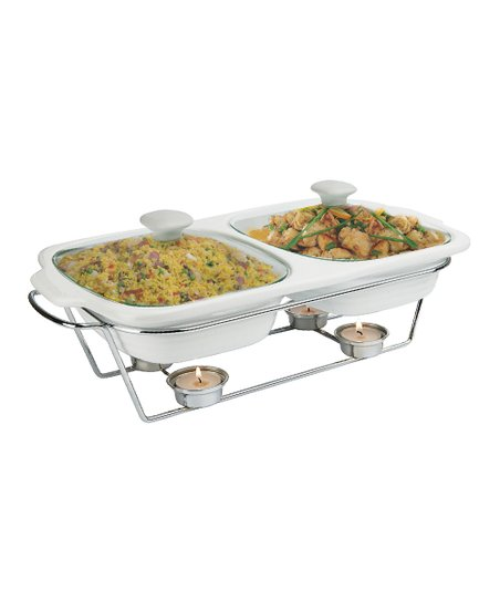 Buffet 2-Qt. Covered Dual Baker & Stand