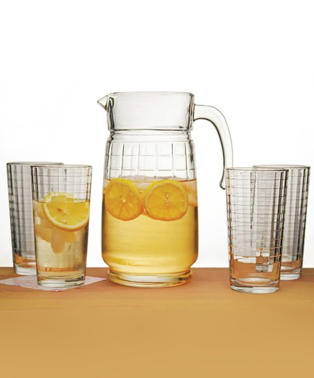 Windowpane Five-Piece Beverage Set