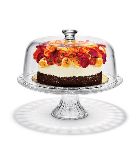 Circle Glass Patisserie Cake Dome & Server