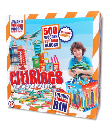 Hot & Cool Wooden Building Blocks Set
