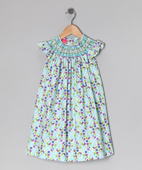 Turquoise Floral Dress - Infant, Toddler & Girls