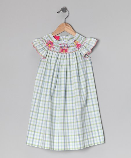 Blue Plaid Princess Dress - Infant & Toddler
