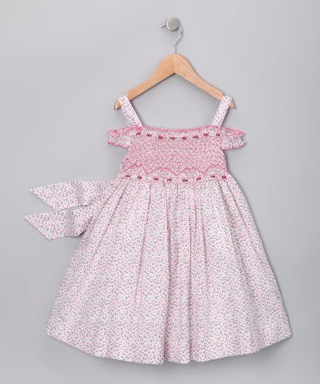 Pink Floral Teresa Smocked Dress - Infant, Toddler & Girls
