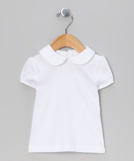 White Cap-Sleeve Top - Infant, Toddler & Girls