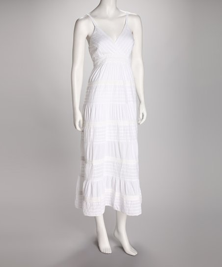Claudia Richard White Surplice Dress