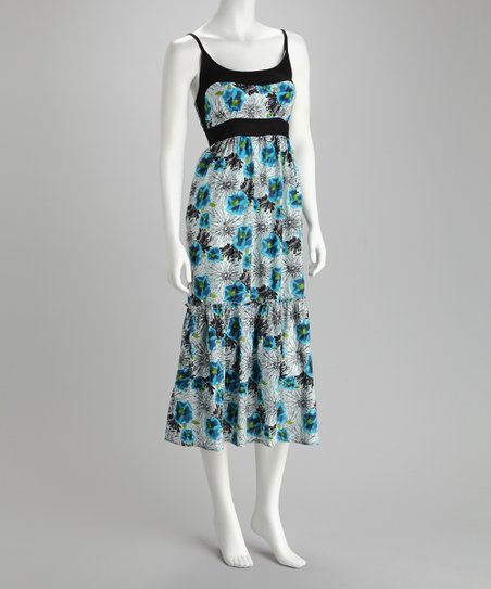 Claudia Richard Blue Floral Dress