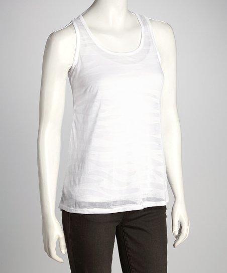 White Sheer Racerback Tank