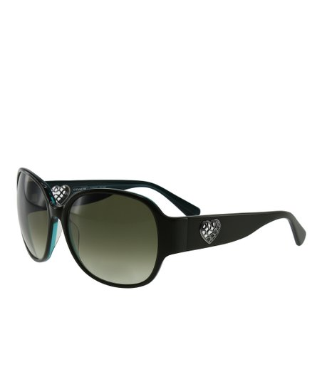 Coach Olive & Gray Gradient Sunglasses