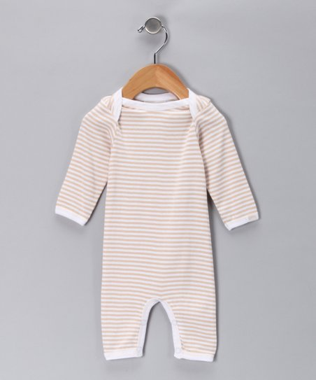 Beige Stripe Playsuit