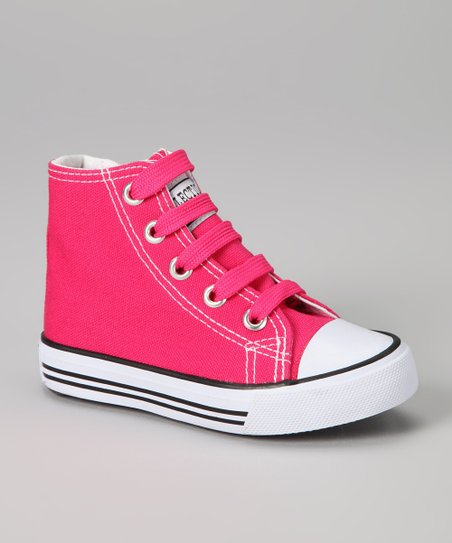 Fuchsia Zipper Hi-Top Sneaker