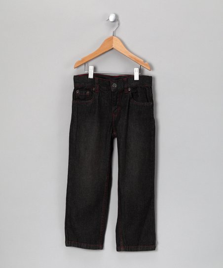 Black & Red Stitch Jeans - Toddler & Boys