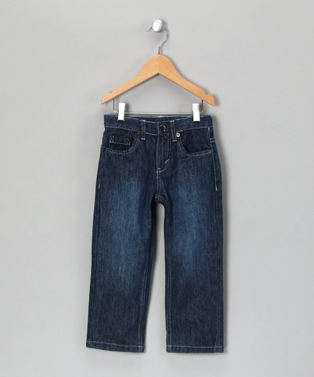 Blue &amp; White Stitch Jeans - Infant, Toddler &amp; Boys