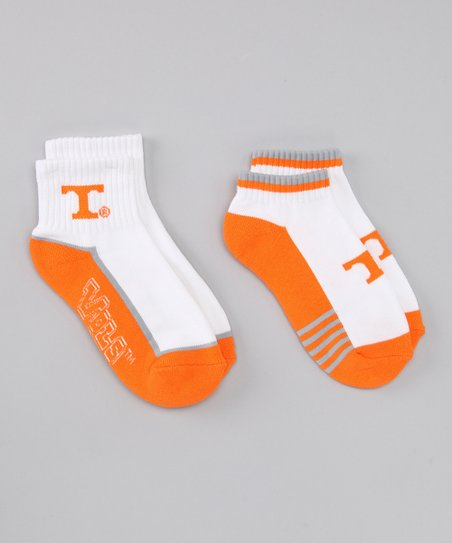 College Edition White Tennessee Socks Set - Women