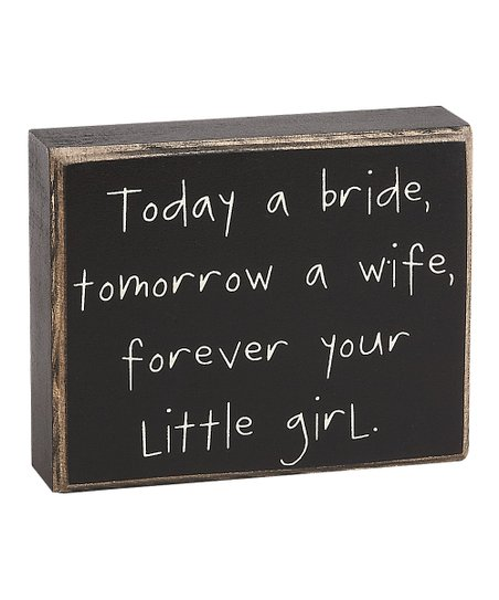 'Today a Bride' Box Sign