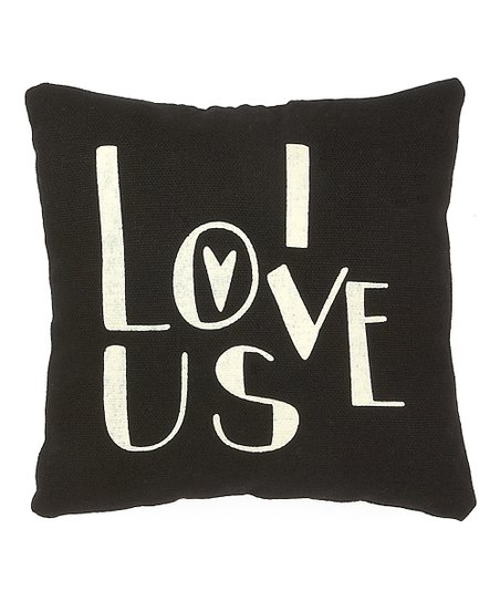 Black 'I Love Us' Throw Pillow