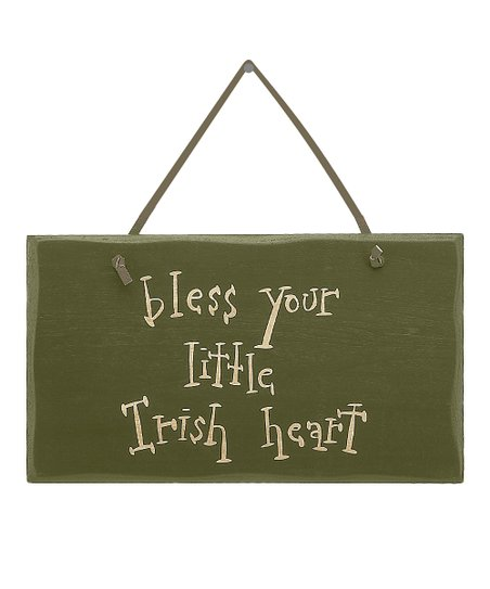 Green 'Irish Heart' Simple Sign
