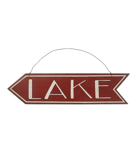 'Lake' Left Arrow Sign