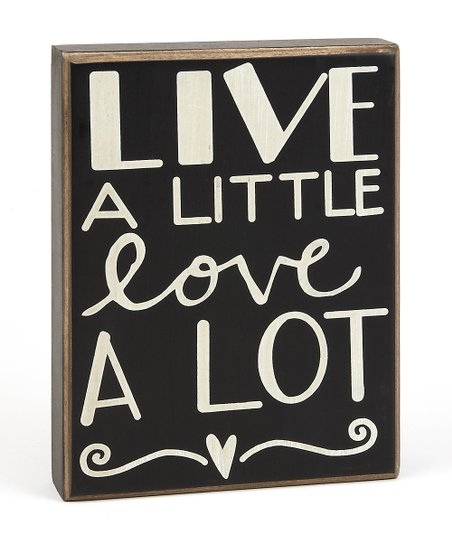 'Live a Little, Love a Lot' Box Sign