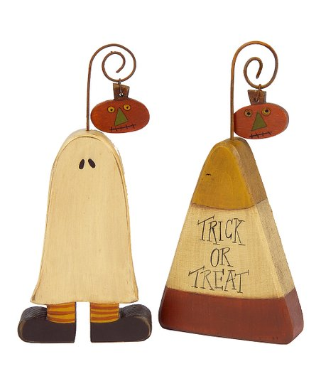 Ghost & Candy Corn Photo Holder Set