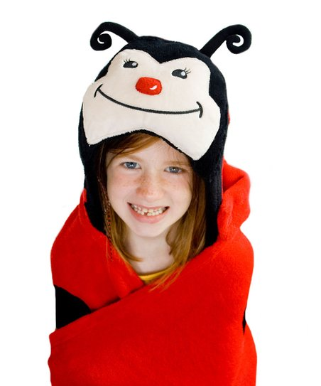 Lily the Ladybug Huggable Hooded Blanket