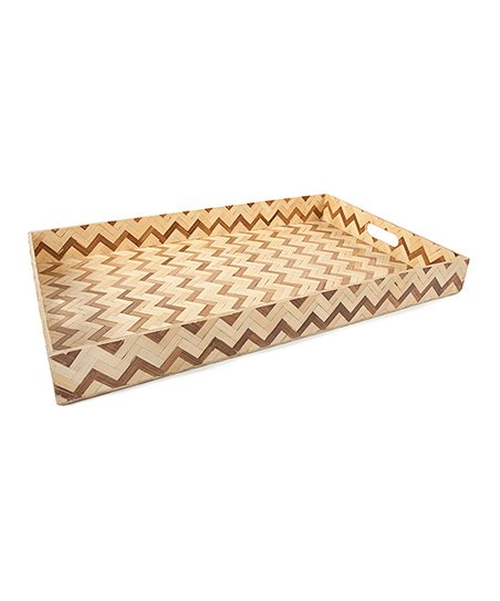 Two-Tone Zigzag 24'' Tray