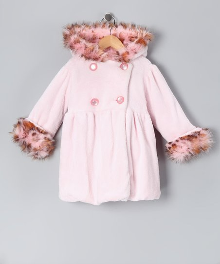 Pink Plush Mary-Jayne Bubble Coat - Infant & Toddler
