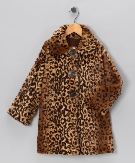 Natural Leopard Sweet Pea Coat - Infant, Toddler & Girls