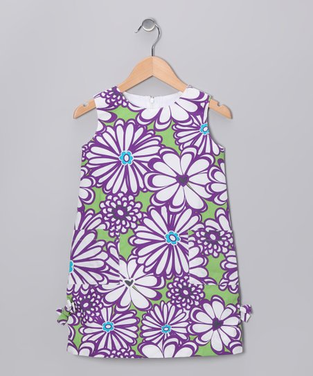 Purple Mummy Shift Dress - Girls