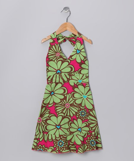 Pink & Sage Mummy Halter Dress - Toddler & Girls
