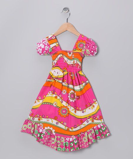 Pink Garden Smocked Dress - Infant, Toddler & Girls