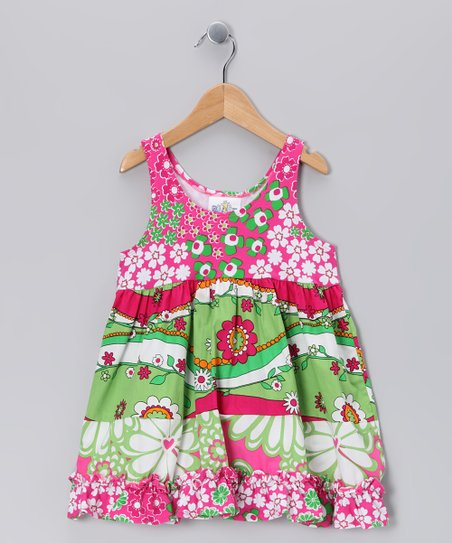 Green Garden Princess Babydoll Dress - Girls