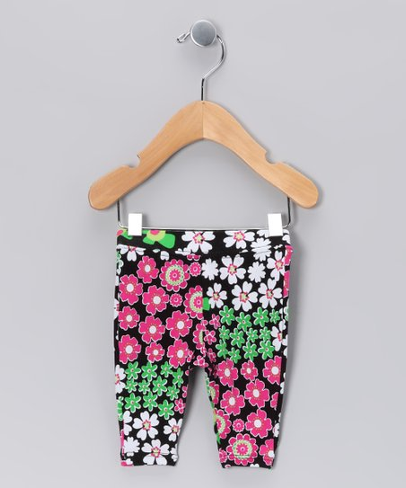 Black Zoology Capri Leggings - Infant & Toddler