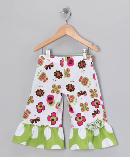 Green Summertime Ruffle Capri Pants - Infant & Toddler